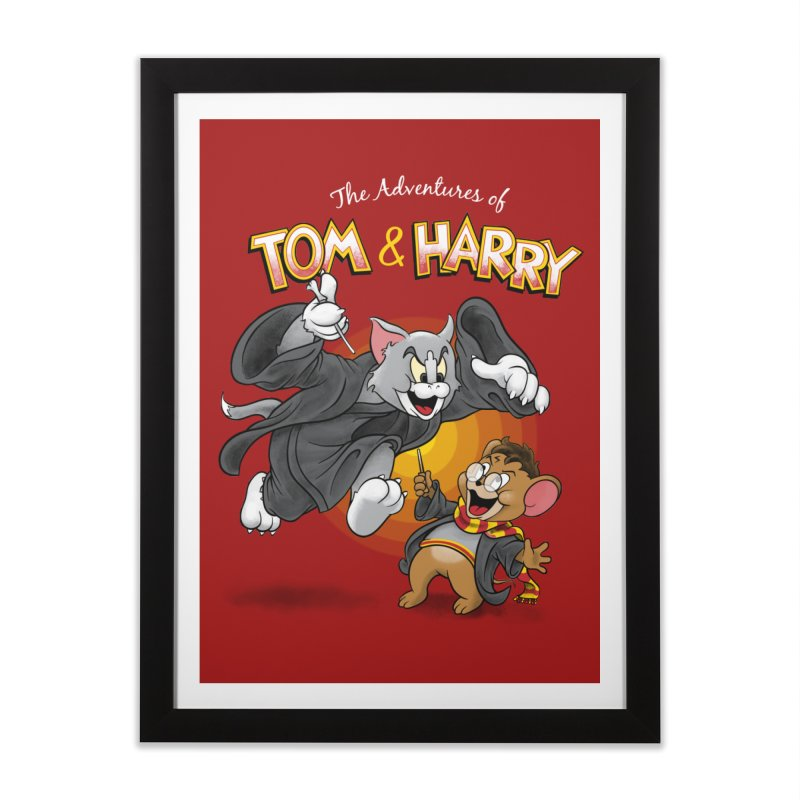 The Adventures of Tom & Harry Home Framed Fine Art Print by Ian Leino @ Threadless