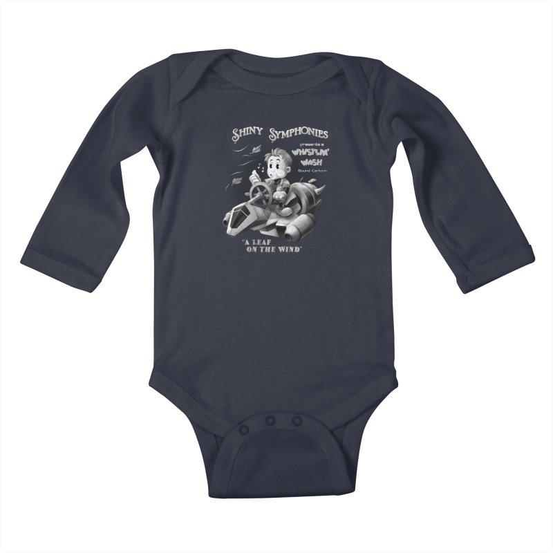 Shiny Symphonies: Whistlin' Wash Kids Baby Longsleeve Bodysuit by Ian Leino @ Threadless