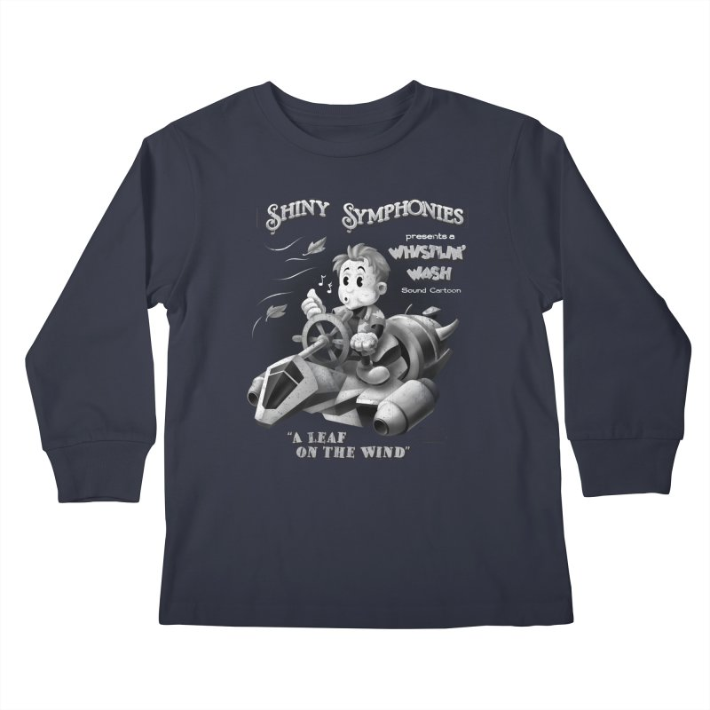 Shiny Symphonies: Whistlin' Wash Kids Longsleeve T-Shirt by Ian Leino @ Threadless