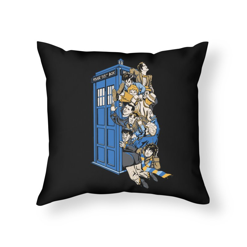 Who's Who Home Throw Pillow by Ian Leino @ Threadless