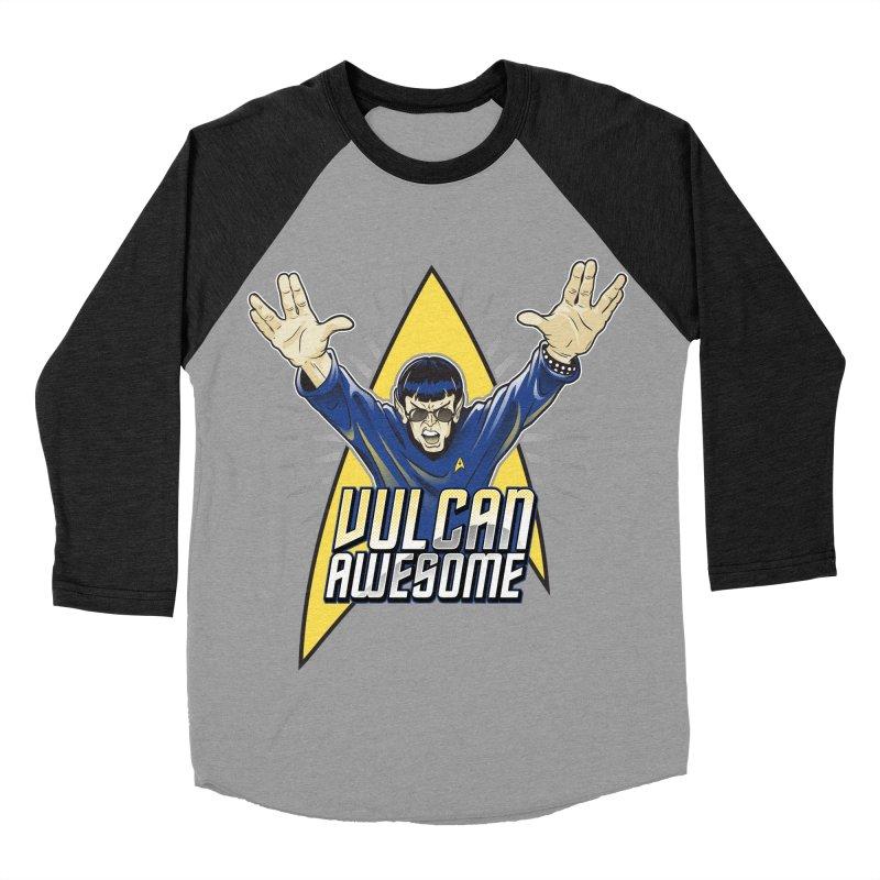 Vulcan Awesome Women's Baseball Triblend Longsleeve T-Shirt by Ian Leino @ Threadless