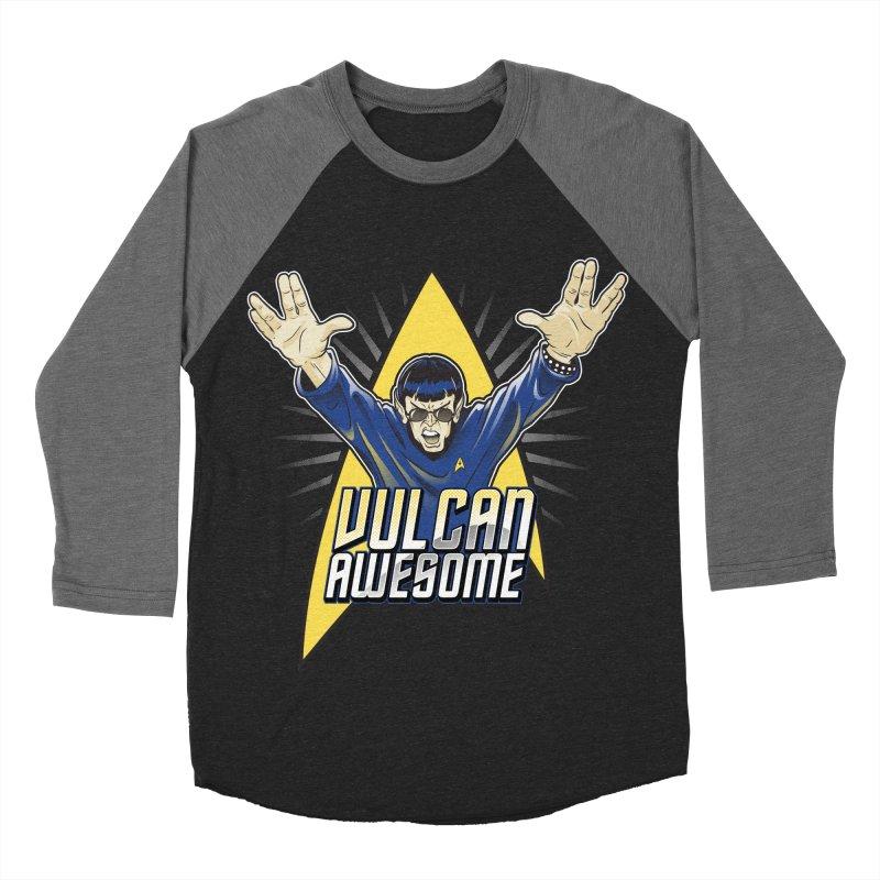 Vulcan Awesome Men's Baseball Triblend Longsleeve T-Shirt by Ian Leino @ Threadless