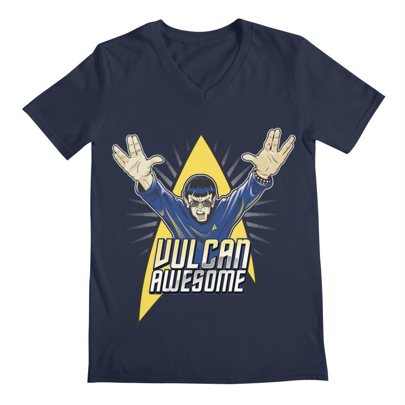 Vulcan Awesome Men's V-Neck by Ian Leino @ Threadless