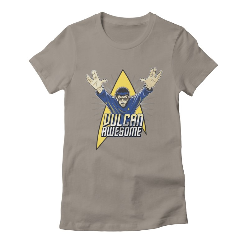 Vulcan Awesome Women's Fitted T-Shirt by Ian Leino @ Threadless