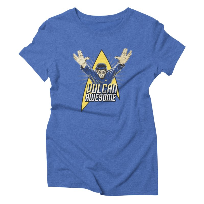 Vulcan Awesome Women's Triblend T-shirt by Ian Leino @ Threadless