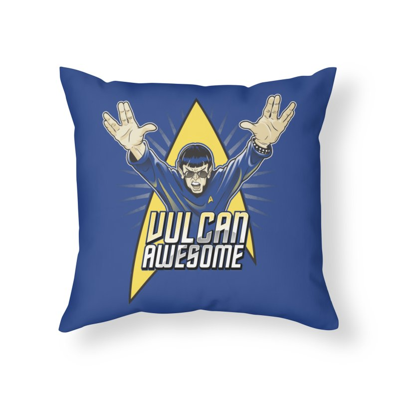 Vulcan Awesome Home Throw Pillow by Ian Leino @ Threadless