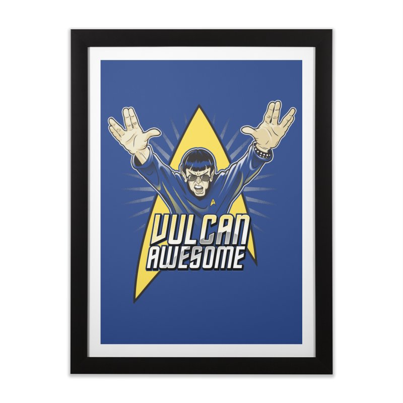 Vulcan Awesome Home Framed Fine Art Print by Ian Leino @ Threadless