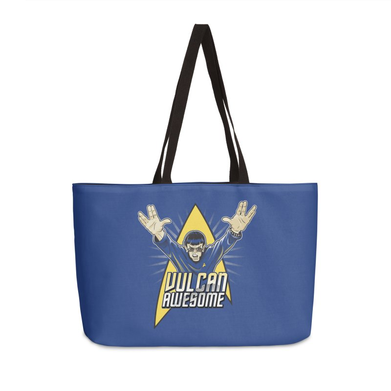 Vulcan Awesome Accessories Weekender Bag Bag by Ian Leino @ Threadless