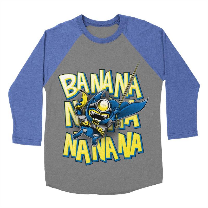 Banana Nana Men's Baseball Triblend T-Shirt by Ian Leino @ Threadless