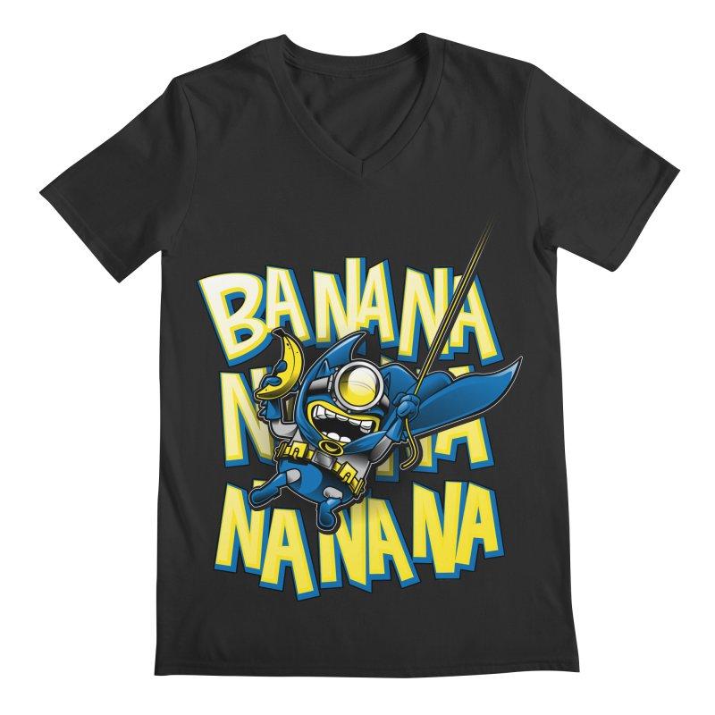 Banana Nana Men's Regular V-Neck by Ian Leino @ Threadless
