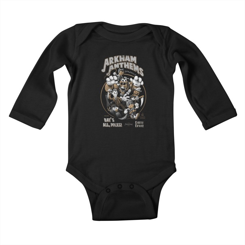 Bat's All, Folks Kids Baby Longsleeve Bodysuit by Ian Leino @ Threadless