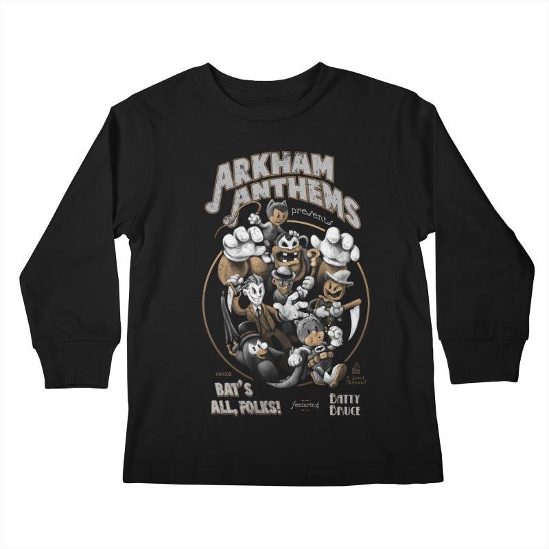 Bat's All, Folks Kids Longsleeve T-Shirt by Ian Leino @ Threadless