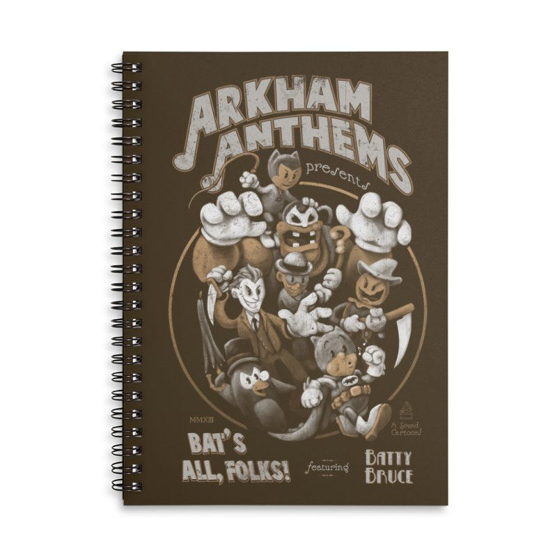 Bat's All, Folks Accessories Lined Spiral Notebook by Ian Leino @ Threadless