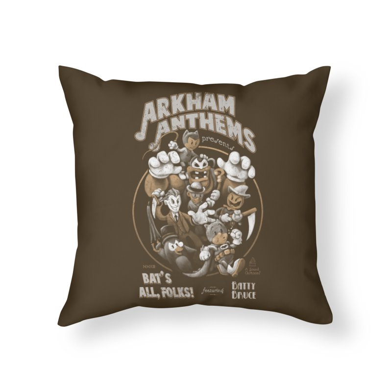 Bat's All, Folks Home Throw Pillow by Ian Leino @ Threadless