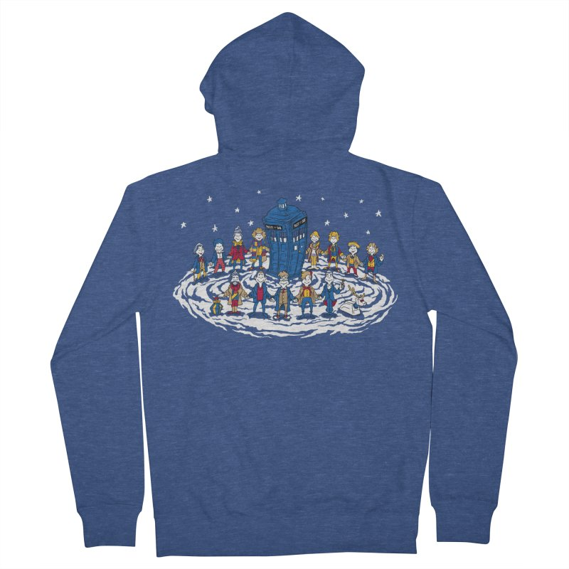 Doctor Whoville Men's French Terry Zip-Up Hoody by Ian Leino @ Threadless
