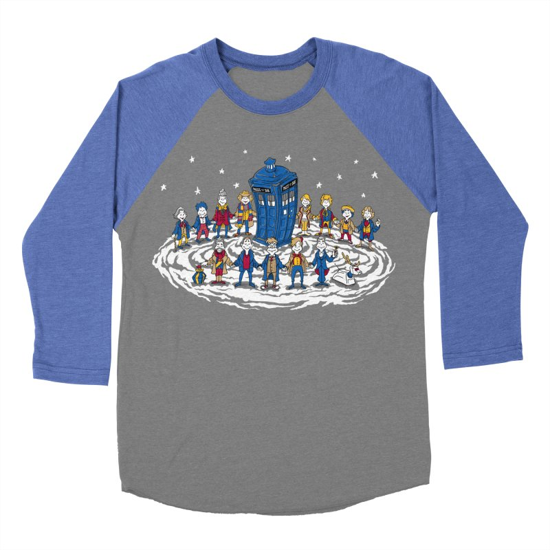 Doctor Whoville Men's Baseball Triblend Longsleeve T-Shirt by Ian Leino @ Threadless