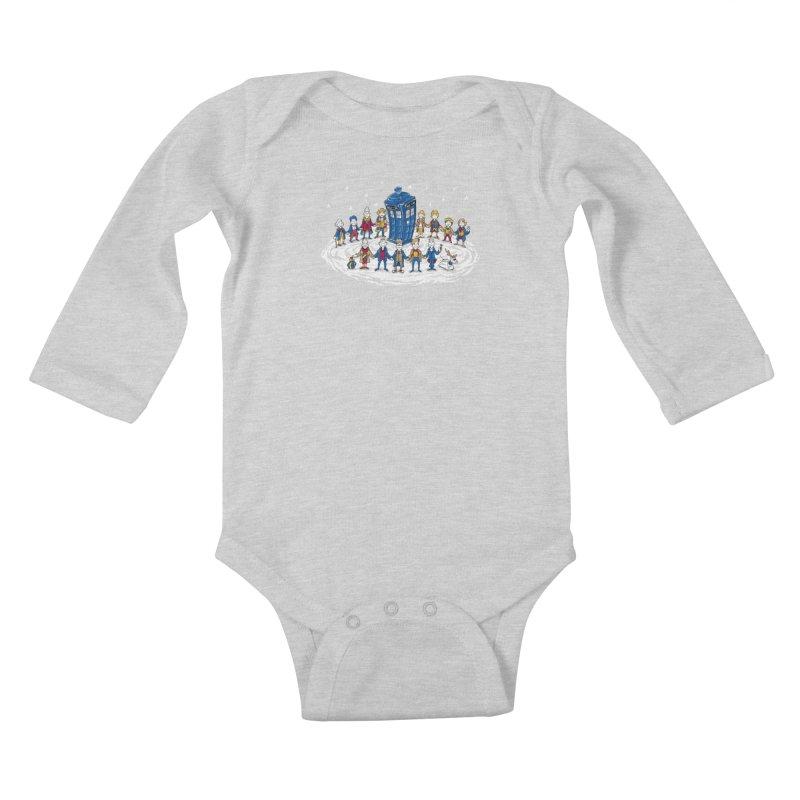 Doctor Whoville Kids Baby Longsleeve Bodysuit by Ian Leino @ Threadless