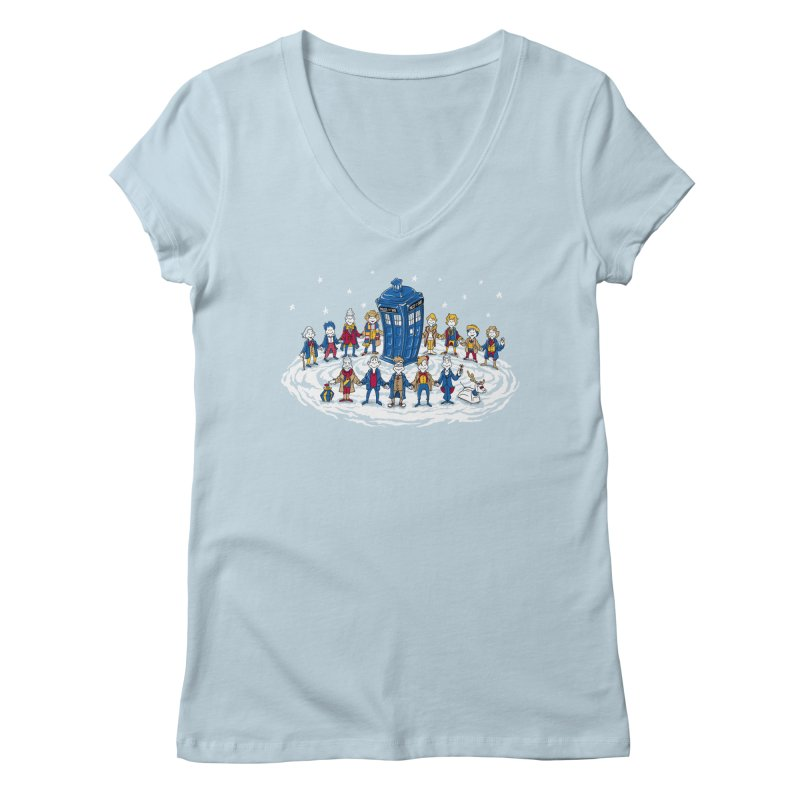 Doctor Whoville Women's Regular V-Neck by Ian Leino @ Threadless