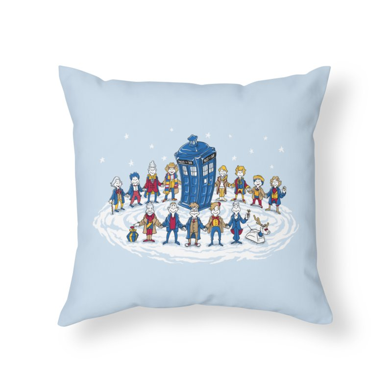 Doctor Whoville Home Throw Pillow by Ian Leino @ Threadless