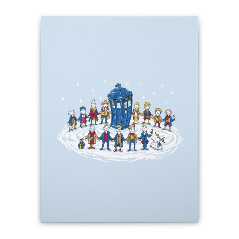 Doctor Whoville Home Stretched Canvas by Ian Leino @ Threadless