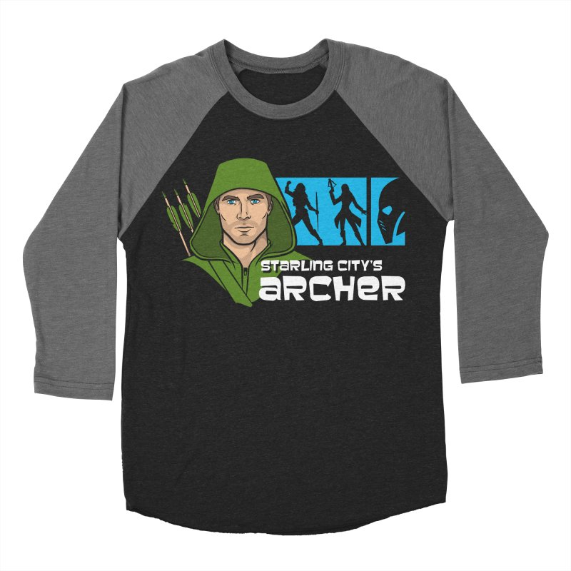 Starling Archer Men's Baseball Triblend Longsleeve T-Shirt by Ian Leino @ Threadless