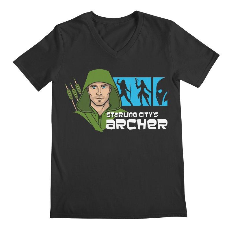 Starling Archer Men's V-Neck by Ian Leino @ Threadless