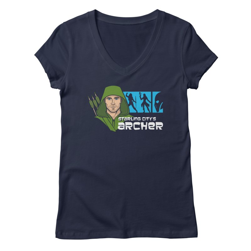 Starling Archer Women's V-Neck by Ian Leino @ Threadless