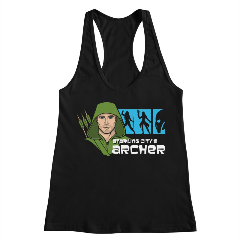 Starling Archer Women's Racerback Tank by Ian Leino @ Threadless