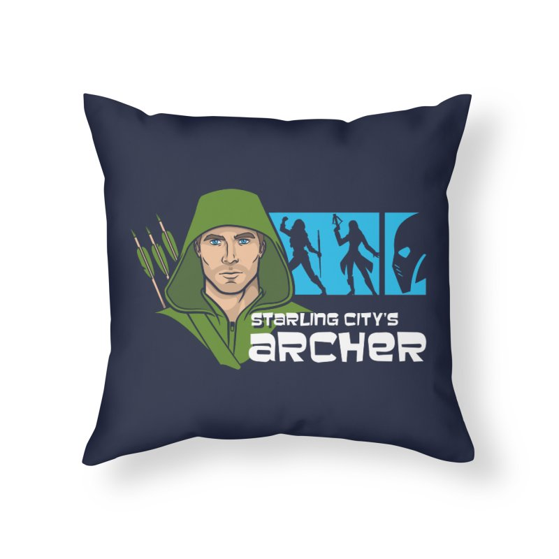 Starling Archer Home Throw Pillow by Ian Leino @ Threadless