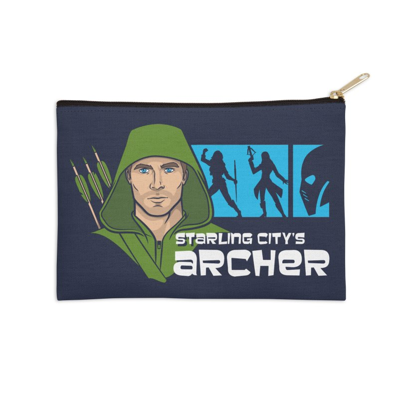 Starling Archer Accessories Zip Pouch by Ian Leino @ Threadless