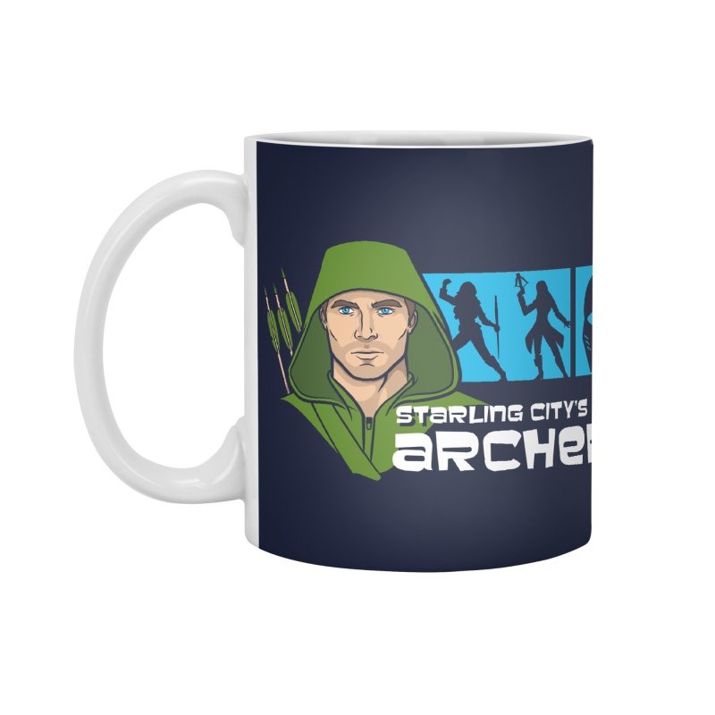 Starling Archer Accessories Standard Mug by Ian Leino @ Threadless