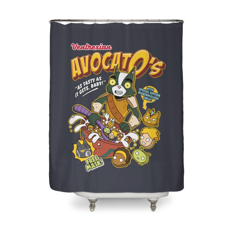 Avocato's Cereal Home Shower Curtain by Ian J. Norris