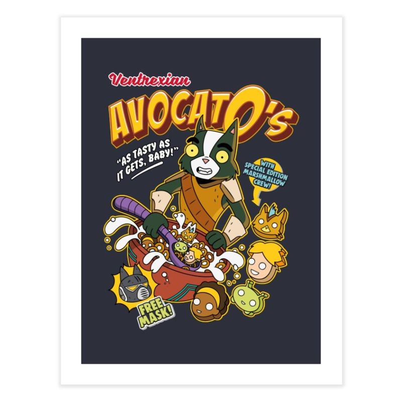 Avocato's Cereal Home Fine Art Print by Ian J. Norris
