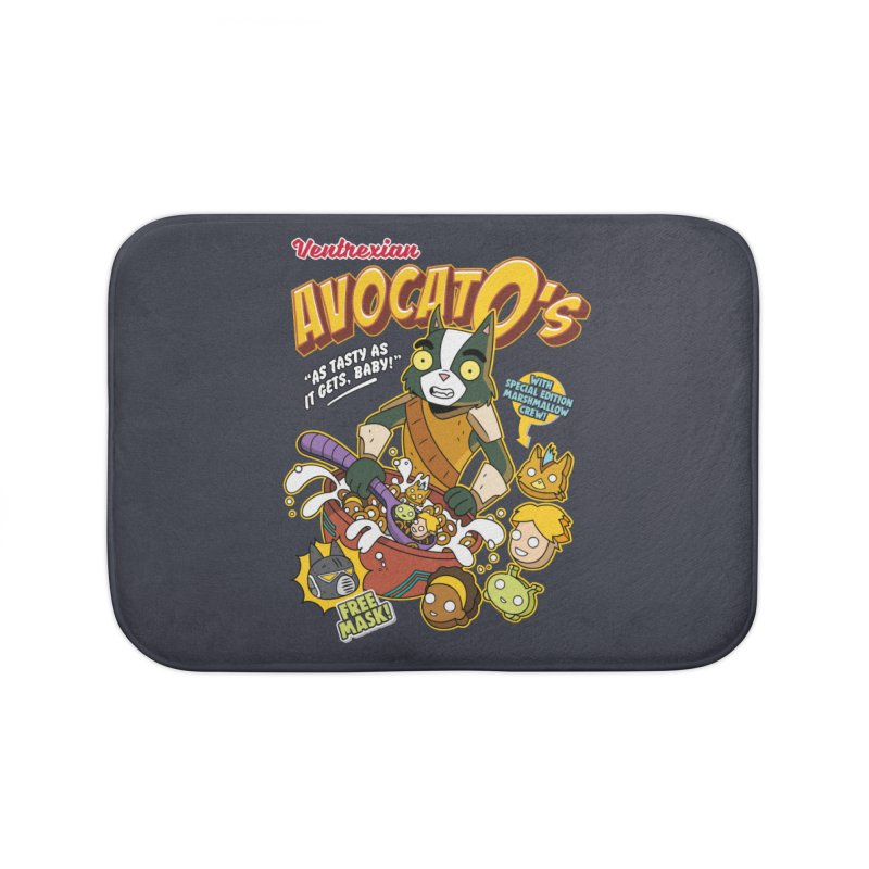 Avocato's Cereal Home Bath Mat by Ian J. Norris