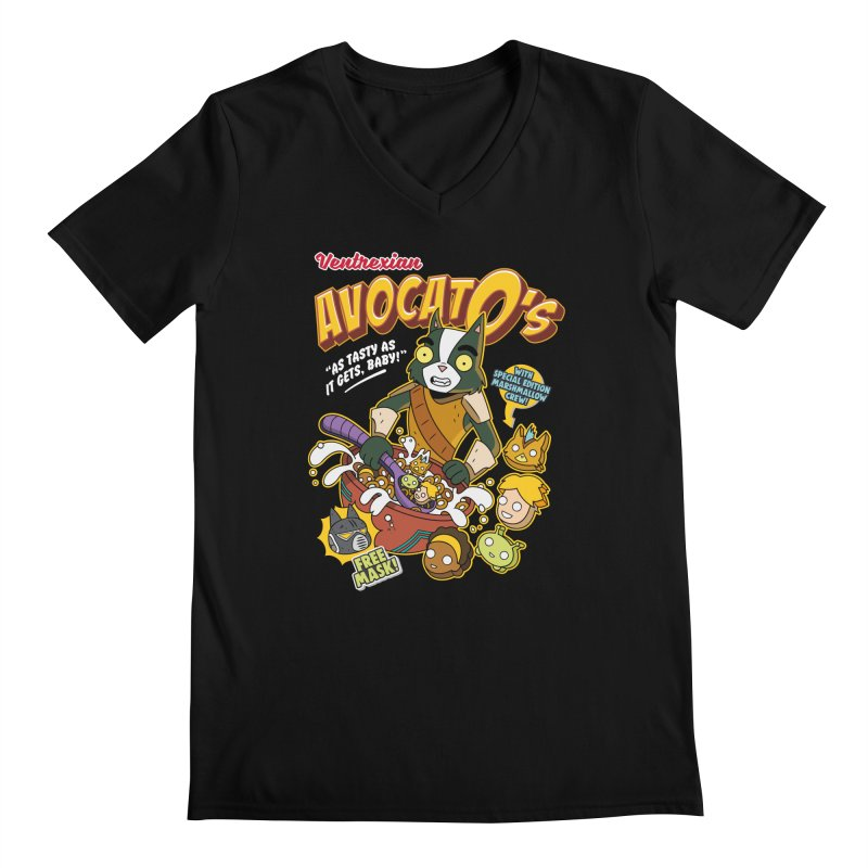 Avocato's Cereal Men's V-Neck by Ian J. Norris