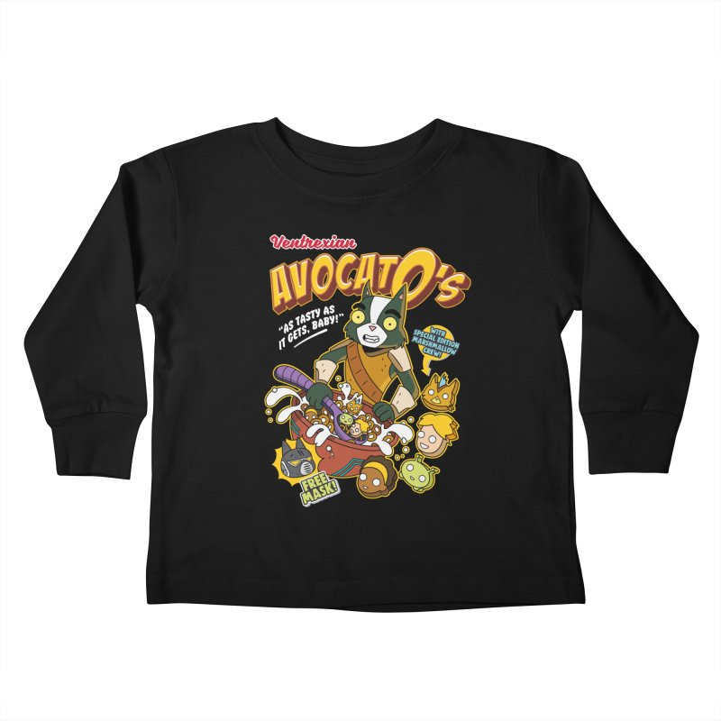 Avocato's Cereal Kids Toddler Longsleeve T-Shirt by Ian J. Norris