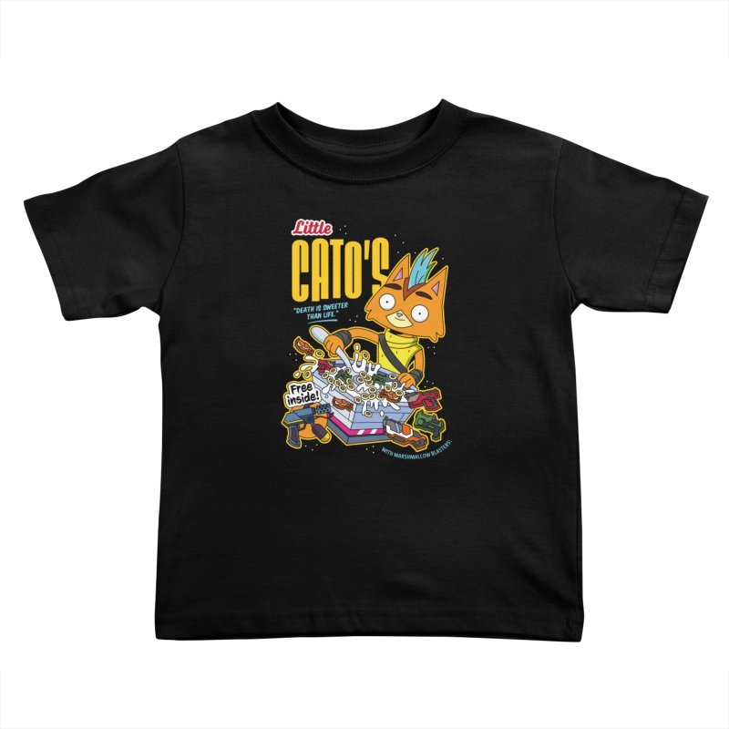 Little Cato's Cereal Kids Toddler T-Shirt by Ian J. Norris