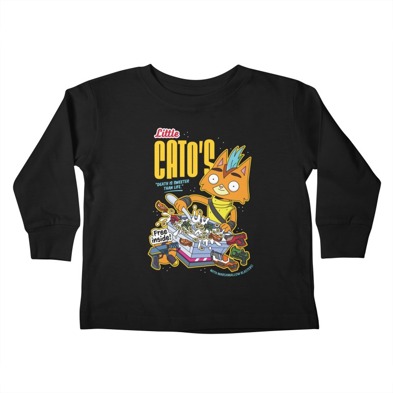Little Cato's Cereal Kids Toddler Longsleeve T-Shirt by Ian J. Norris