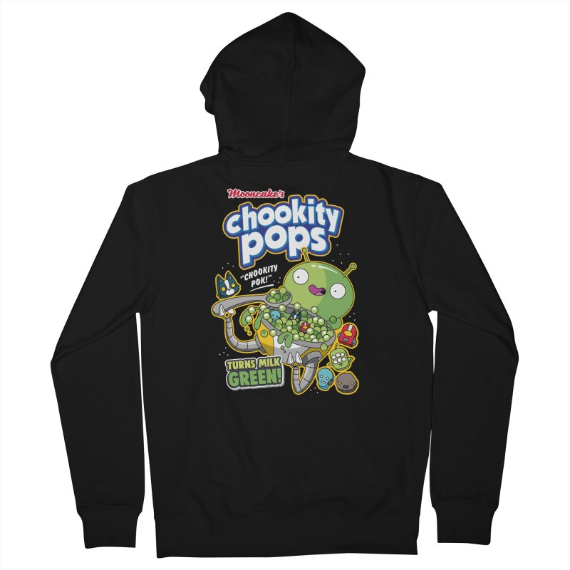 Mooncake's Chookity Pops Men's Zip-Up Hoody by Ian J. Norris