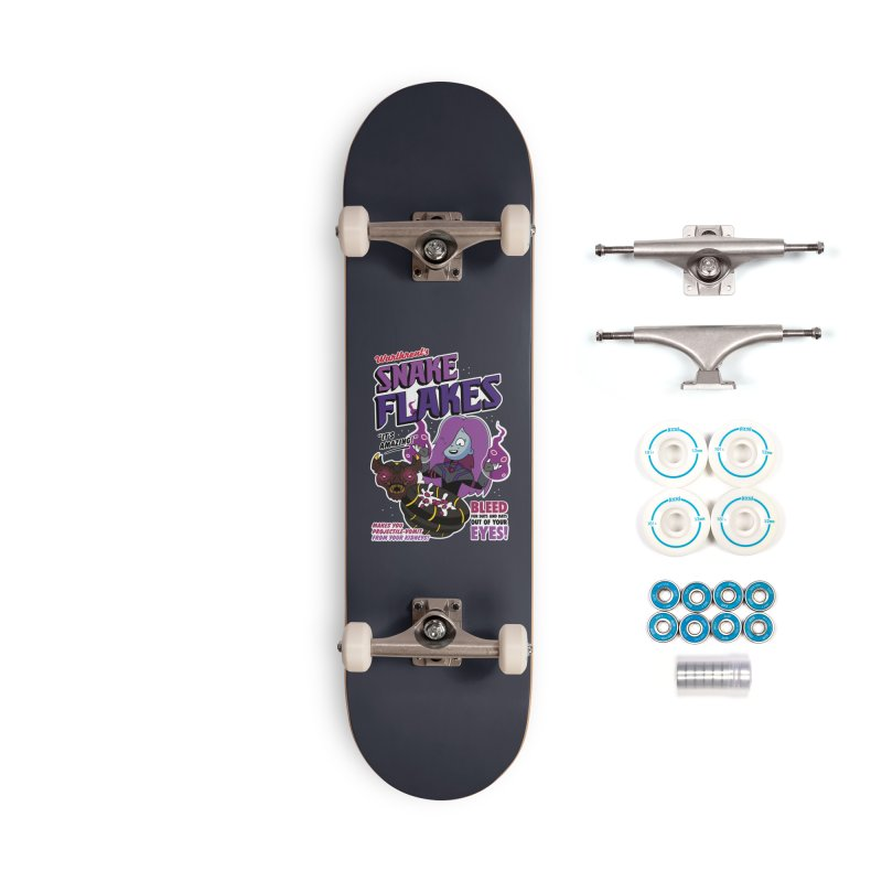 Warthrent's Snake Flakes Accessories Skateboard by Ian J. Norris