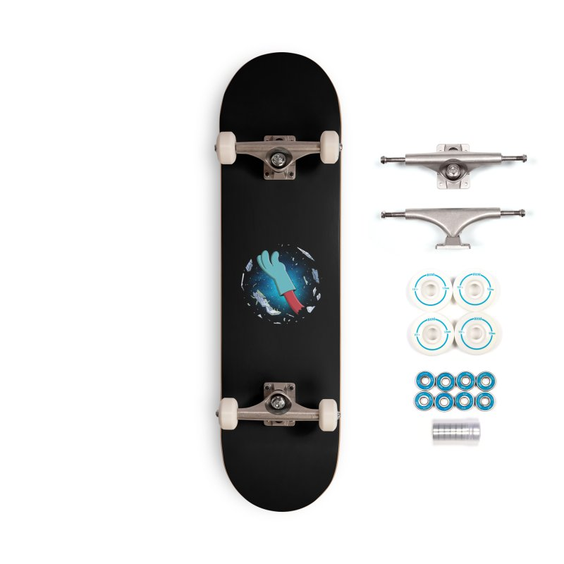 Final Space v Dead Space - Gary's Arm Accessories Skateboard by Ian J. Norris
