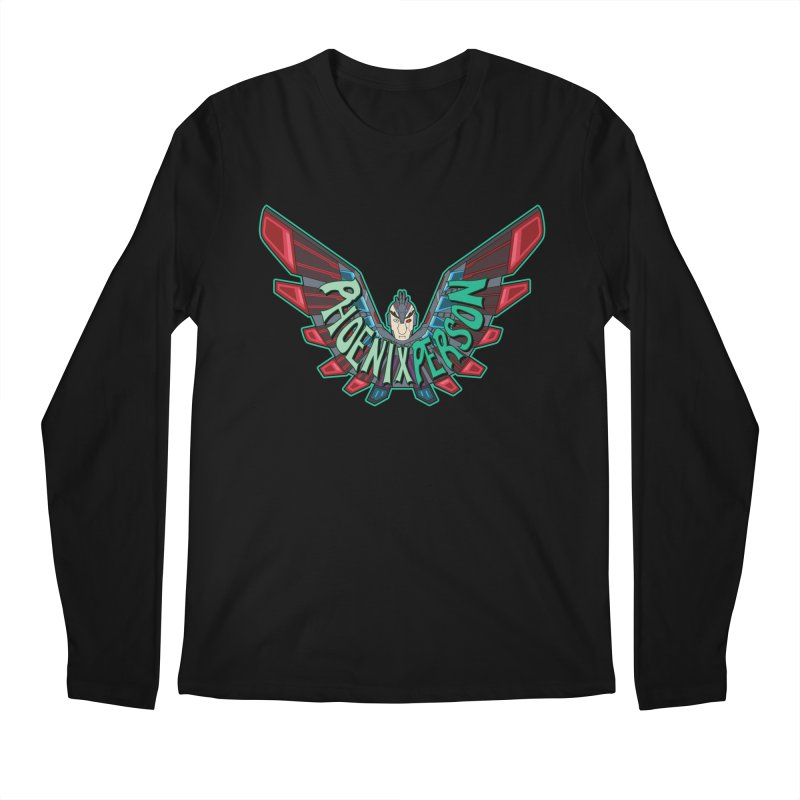 Phoenix Person Men's Longsleeve T-Shirt by Ian J. Norris