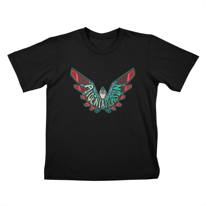 Phoenix Person Kids T-Shirt by Ian J. Norris