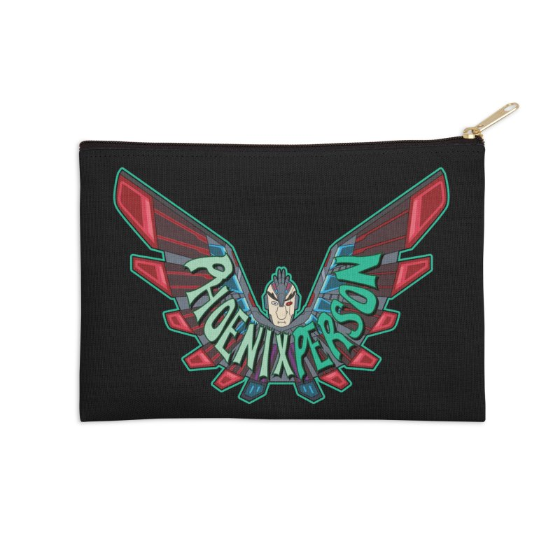 Phoenix Person Accessories Zip Pouch by Ian J. Norris