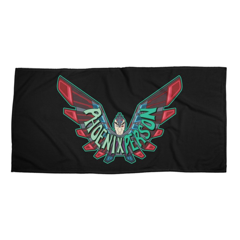 Phoenix Person Accessories Beach Towel by Ian J. Norris