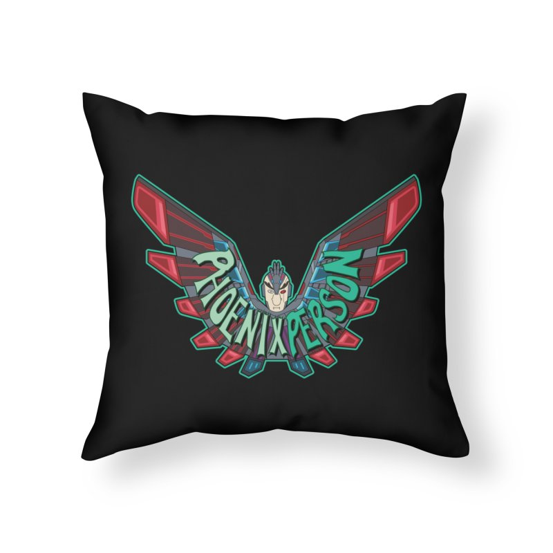 Phoenix Person Home Throw Pillow by Ian J. Norris