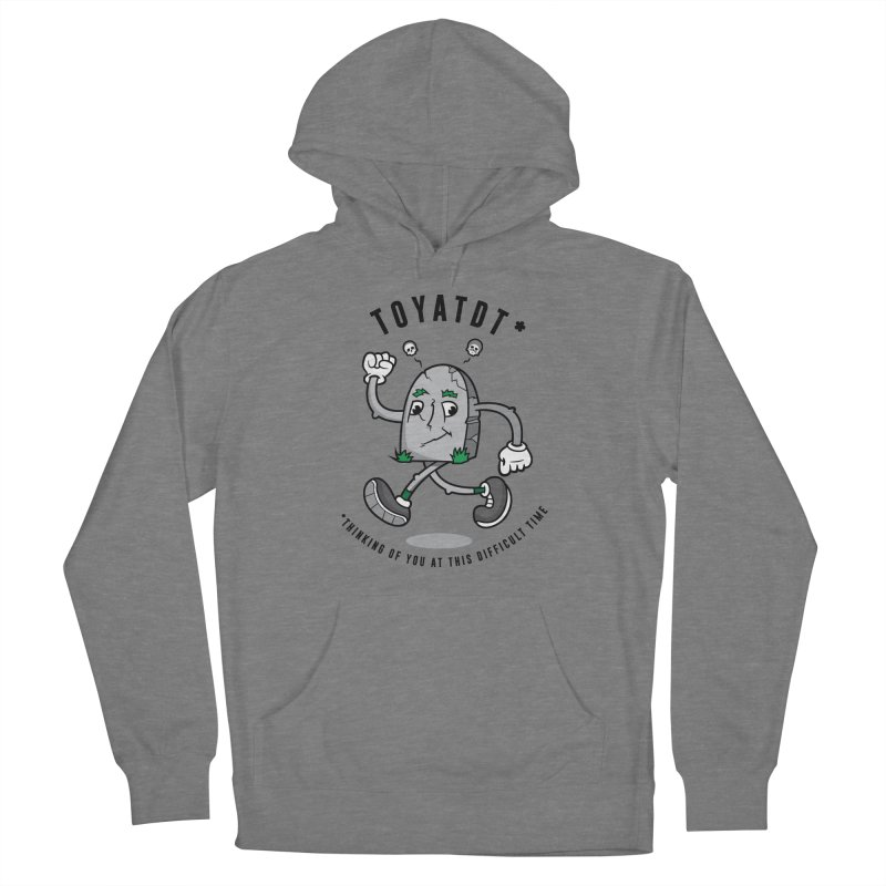 TOYATDT in Men's French Terry Pullover Hoody Heather Graphite by Ian J. Norris