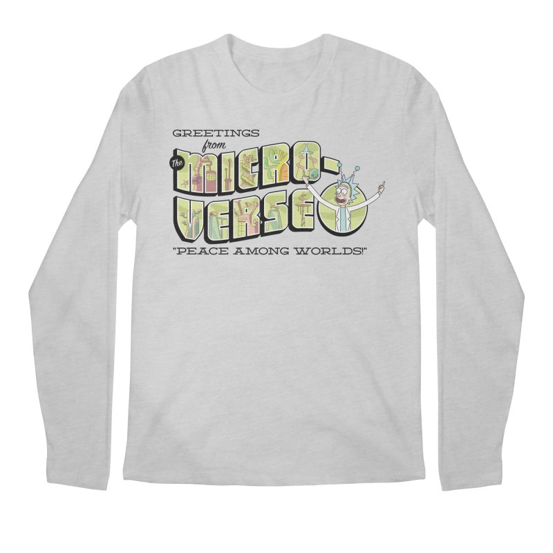 Greetings from The Microverse! Men's Longsleeve T-Shirt by Ian J. Norris