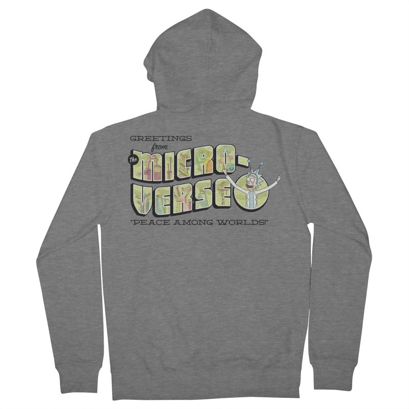 Greetings from The Microverse! Men's Zip-Up Hoody by Ian J. Norris