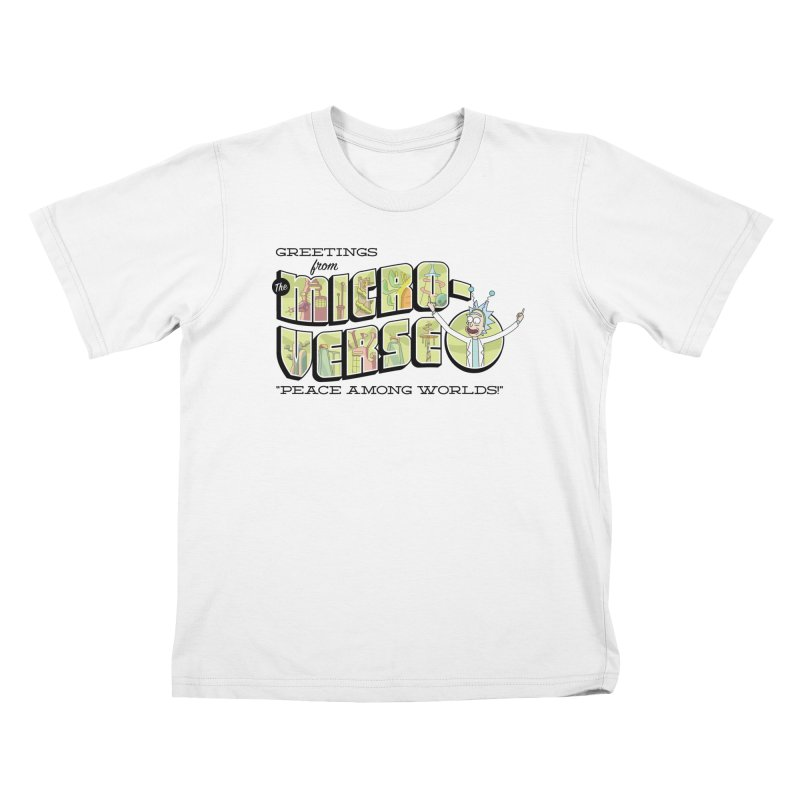 Greetings from The Microverse! Kids T-Shirt by Ian J. Norris